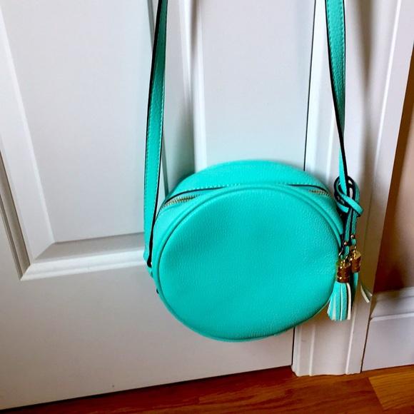 Adorable teal circle purse